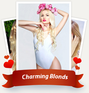 Blondes are very popular among men. Bright and beautiful lady will always please not only your eyes, but also your heart  and they will excite your consciousness!